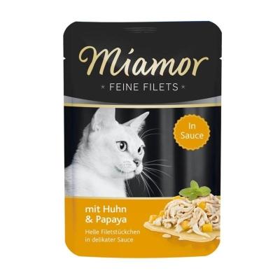 Miamor Feine Filets Kana & Papaija kastikeessa 100 g, 24x100 g
