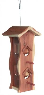 Trixie Distribuidor de alimentos de madera 12×29×14 cm 600 ml