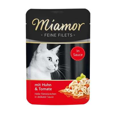 Miamor Portionsbeutel Feine Filets Huhn & Tomate 100 g, 24x100 g