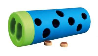Trixie Dog Activity Snack Rol, kunststof/natuurrubber Lichtblauw ø 6/ø 5×14 cm