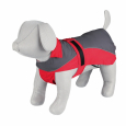 Trixie Raincoat Lorient, grey/red 55 cm