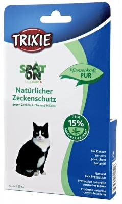 Trixie Floh- und Zeckenschutz Spot On, 100% Pflanzliche Wirkstoffe 75 ml