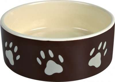 Trixie Ceramic bowl with Paw Prints Beige 1.4 l