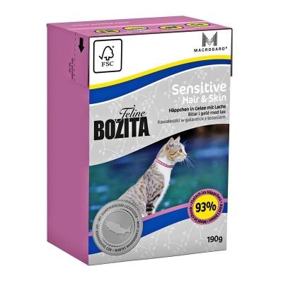 Bozita Feline Sensitive Hair & Skin Häpchen in Gelee mit Lachs 190 g