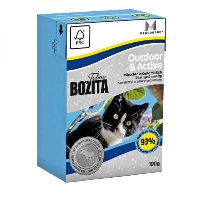 Bozita Feline Outdoor & Active Palat hyytelössä sisältävät ruotsalaista hirvenlihaa 190 g