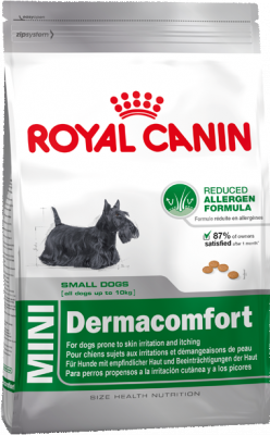 Royal Canin Size Health Nutrition Mini Dermacomfort  800 g, 4 kg, 2 kg