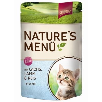 Schmusy Natures Menu Kitten Lohi 190 g, 100 g