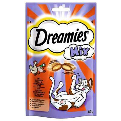 Dreamies Cat Snacks Mix with Chicken & Duck Tamhøns & And 60 g