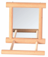 Trixie  Mirror with Wooden Frame  Beige shop