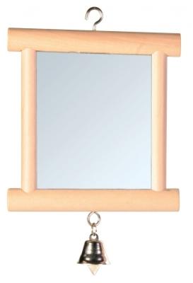 Trixie Spejl med Træramme Beige 9x10 cm