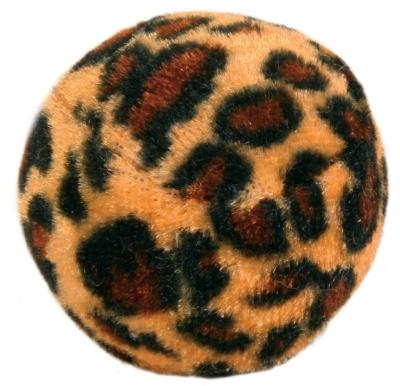 Trixie Set Spielbälle mit Leopardenmuster, Kunststoff Braun 4 cm