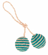 Trixie Two Balls on a Rope, Sisal 4.5 cm