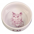 Trixie Skål med Motiv Katt Keramik