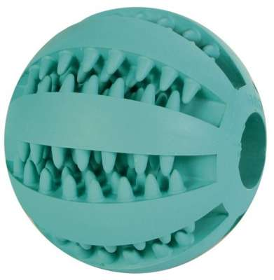 Trixie Denta Fun Baseball, Mintfresh, Naturgummi 7 cm 5 cm Petrol