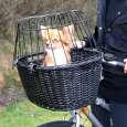 Trixie Cesto per bicicletta con griglia