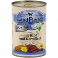 Landfleisch Dog Senior Beef & Potatoes with fresh Vegetables Can bestil til gode priser