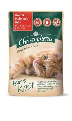 Christopherus Feine Kost Senior, Beef & Chicken with Rice in Pouch 85 g