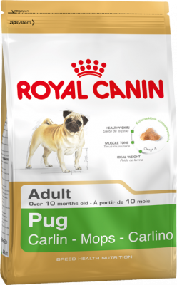Royal Canin Breed Health Nutrition Pug Adult  1.5 kg, 3 kg, 500 g