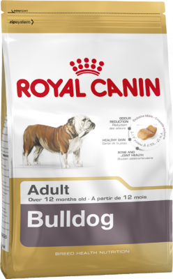 Royal Canin Breed Health Nutrition Bulldog Adult  3 kg, 12 kg