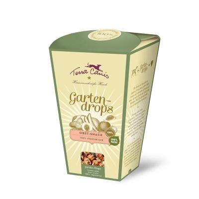 Terra Canis Dog Snack Vegetariano, Garten Drop Frutta 250 g