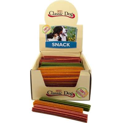 Classic Dog Snack Chewing stick, Gluten Free, Mini 12 cm in beige, red or green 30 g