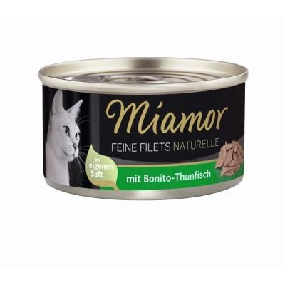 Miamor Feine Filets naturelle Bonito-Thunfisch 80 g, 156 g