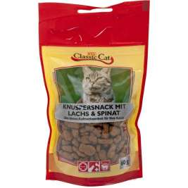 Snack Crunchy snack with salmon and spinach Classic Cat 4260104075380