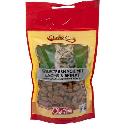 Classic Cat Snack Knuspersnack mit Lachs & Spinat Lachs & Spinat 12x60 g