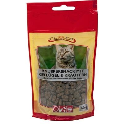 Classic Cat Snack Crunchy Snack Poultry & Herbs Fjærkre & Urter 12x60 g