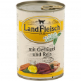 Landfleisch Pur Poultry & Rice extra low-fat with fresh vegetables Can 400 g - Dog food with rice