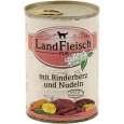 Landfleisch Pur Rundvlees Hart & Noedels met verse groenten Blikje 400 g - Hondenvoer voor volwassen honden