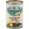 Landfleisch Pur Beef heart & rice with fresh vegetables Can 400 g - Krmivo pro mladé psy