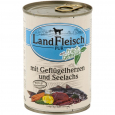 Pur Poultry hearts & Pollock with fresh vegetables Can από τη Landfleisch 400 g
