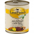 Landfleisch Pur Poultry & Rice extra low-fat with fresh vegetables Can 800 g - Τροφή για ενήλικους σκύλους