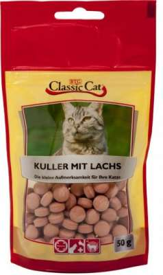 Classic Cat Snack Kuller with Salmon Lax 12x50 g