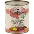 Landfleisch Pur Beef heart & noodles with fresh vegetables Can 800 g - Τροφή για ενήλικους σκύλους