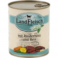 Pur Beef heart & rice with fresh vegetables Can by Landfleisch 800 g