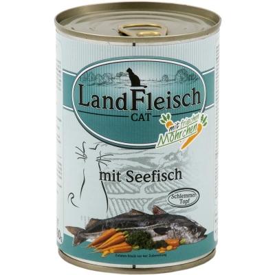Landfleisch Cat Schlemmertopf Seefisch mit Frischgemüse in der Dose 195 g, 400 g