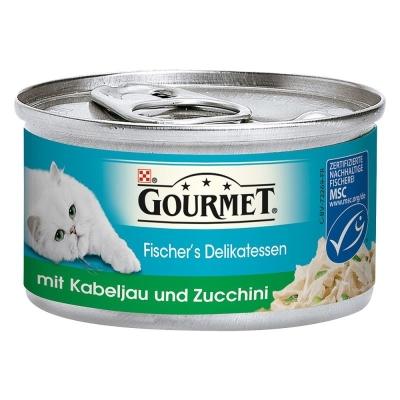 Purina Gourmet Fischer´s Delikatessen mit Kabeljau und Zucchini 12x85 g, 85 g