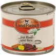 Landfleisch Dog Pur Beef & Rice extra lean with fresh Vegetables in Can 195 g