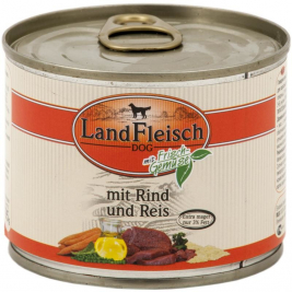 Dog Pur Beef & Rice extra lean with fresh Vegetables in Can Landfleisch 4003537403364