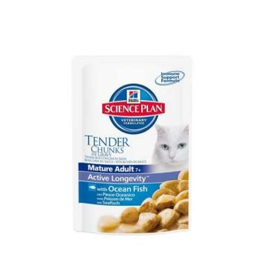 Hill's Science Plan Feline - Mature Adult 7+ Active Longevity med Havfisk 12x100 g, 85 g