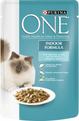 Purina ONE Indoor - tonnikala & vihreät pavut 85 g