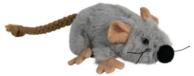 Trixie Plüschmaus Grau 7 cm