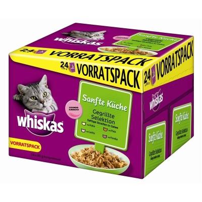 Whiskas Portionsbeutel Multipack Sanfte Küche gegrillte Selektion 24x85 g
