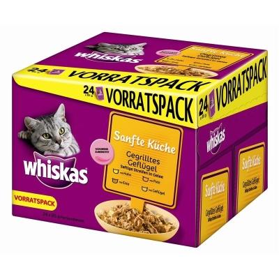 Whiskas Portionsbeutel Multipack Sanfte Küche gegrilltes Geflügel 85 g