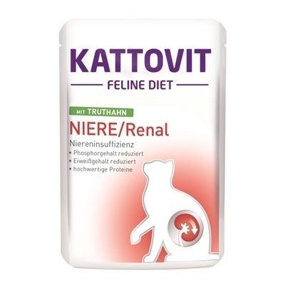 Kattovit Feline Diet Niere/Renal mit Truthahn 85 g