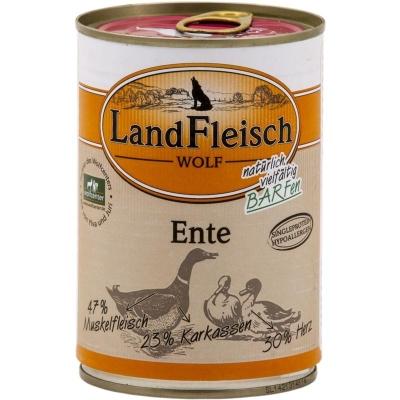 Landfleisch Wolf 100% Eend Blikje  400 g