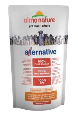 Almo Nature Alternative Extra Small + Small - Tuoretta Kanaa ja Riisiä  750 g, 3.75 kg