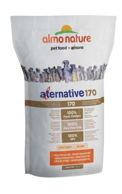 Almo Nature Alternative 170 Medium + Large - Tuoretta Kanaa ja Riisiä  9.5 kg, 3.75 kg